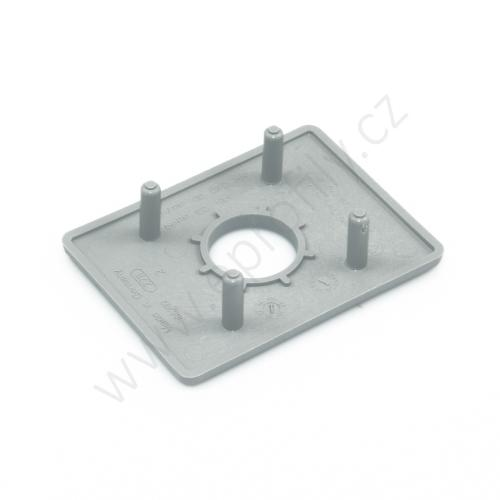 Krytka konce profilu šedá plast, 3842548802, 45x60 s otvorem D17, (1ks)