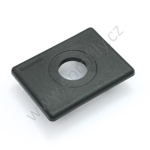 Krytka konce profilu černá plast, ESD, 3842548803, 45x60 s otvorem D17, Balení (20ks)