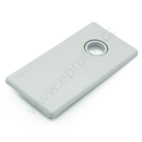 Krytka konce profilu šedá plast, 3842548804, 45x90 s otvorem D12,5/D17, (1ks)