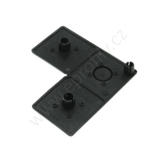 Krytka konce profilu černá plast, ESD, 3842548807, 45x90x90, Balení (20ks)