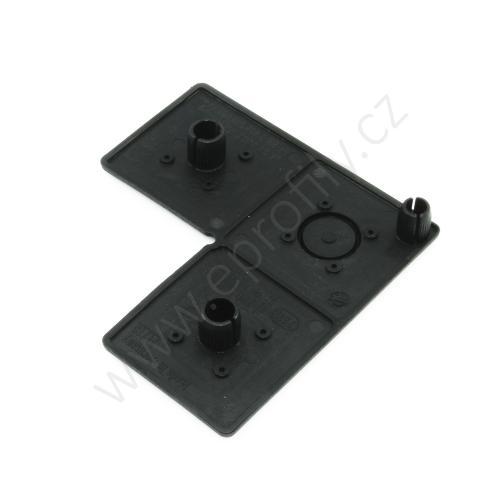 Krytka konce profilu černá plast, ESD, 3842548807, 45x90x90, (1ks)