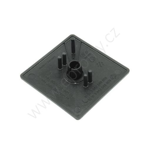 Krytka konce profilu černá plast, ESD, 3842548809, 60x60, Balení (20ks)