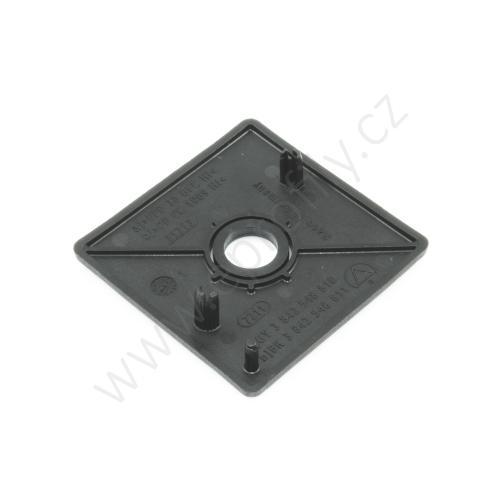 Krytka konce profilu černá plast, ESD, 3842548811, 60x60 s otvorem D12,5/D17, (1ks)