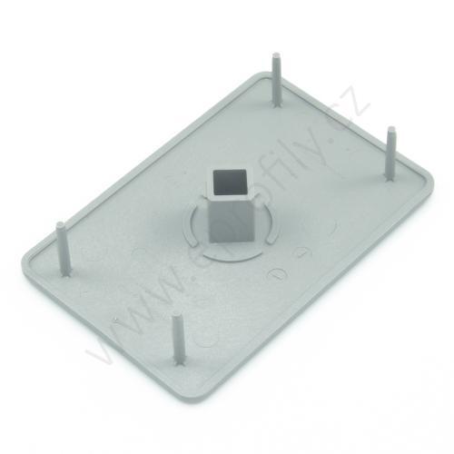 Krytka konce profilu šedá plast, 3842548812, 60x90, (1ks)