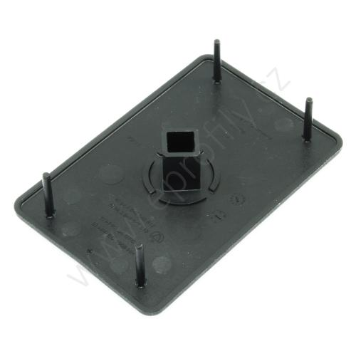 Krytka konce profilu černá plast, ESD, 3842548813, 60x90, (1ks)