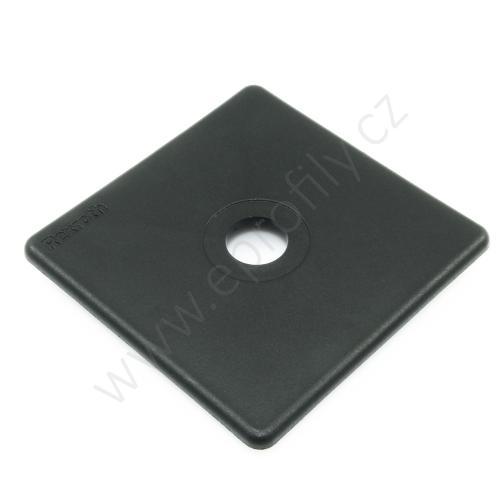 Krytka konce profilu černá plast, ESD, 3842548815, 90x90 s otvorem D16,3, (1ks)