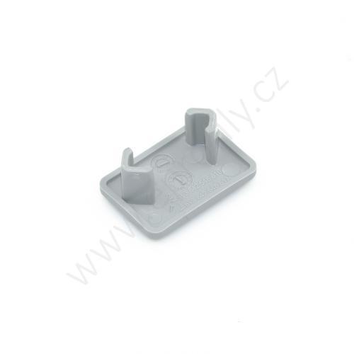 Krytka konce profilu šedá plast, 3842548816, 15x22,5, (1ks)