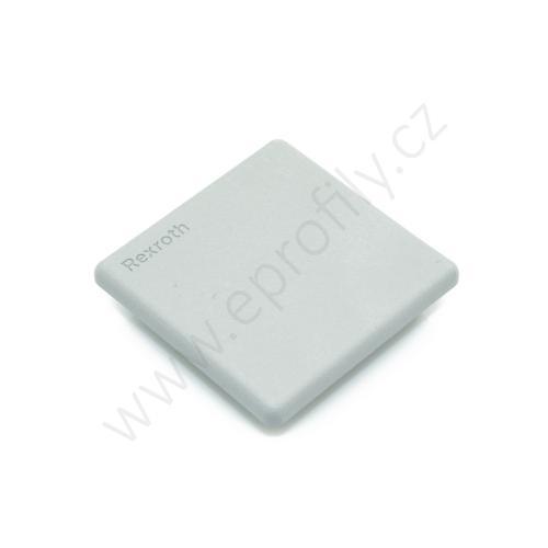 Krytka konce profilu šedá plast, 3842548820, 50x50, (1ks)