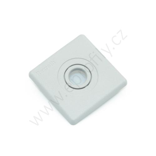 Krytka konce profilu šedá plast, 3842548822, 50x50 s otvorem D12,5, (1ks)