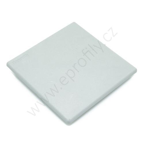 Krytka konce profilu šedá plast, 3842548824, 100x100, (1ks)