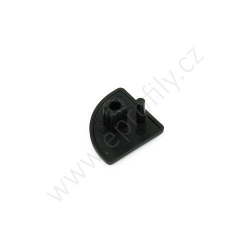 Krytka konce profilu černá plast, ESD, 3842548827, 20x20R, (1ks)