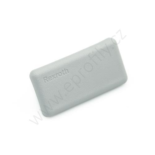 Krytka konce profilu šedá plast, 3842548830, 22,5x45, Balení (20ks)