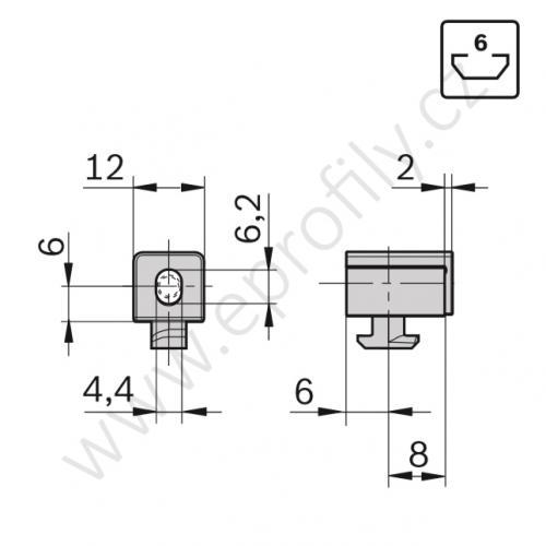 Variofix blok S, 3842548836, N6, (1ks)