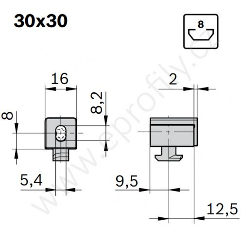 Variofix blok S, 3842548838, N8, (1ks)