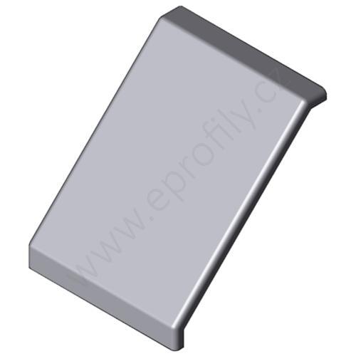 Krytka úhelníku - šedá, 3842548874, 100x100, (1ks)