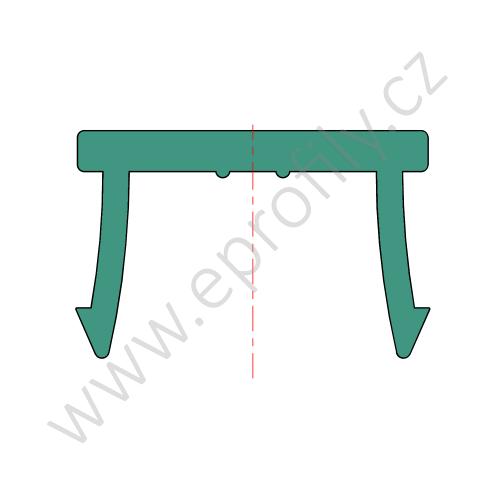 Krytka drážky profilu plast, signalní šedá RAL 7004, 3842548876, N10, 2000 mm, (1ks)