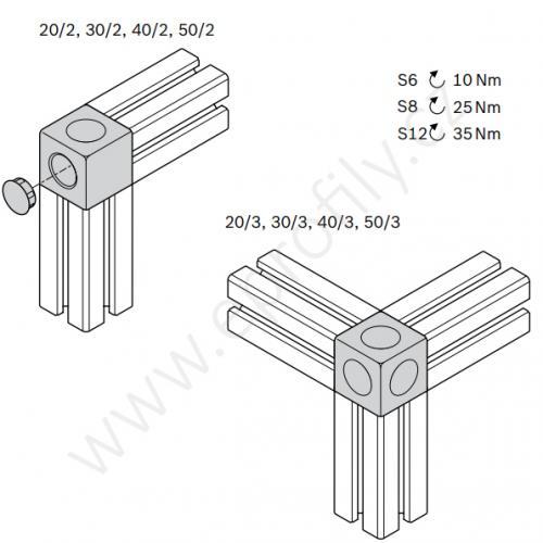 Kostka designLINE, ESD, 3842549861, 20/3, (1ks)
