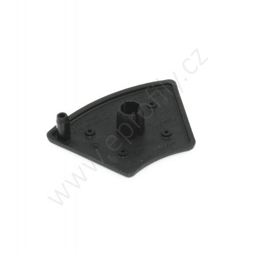 Krytka konce profilu černá plast, ESD, 3842551017, 40x45°, (1ks)