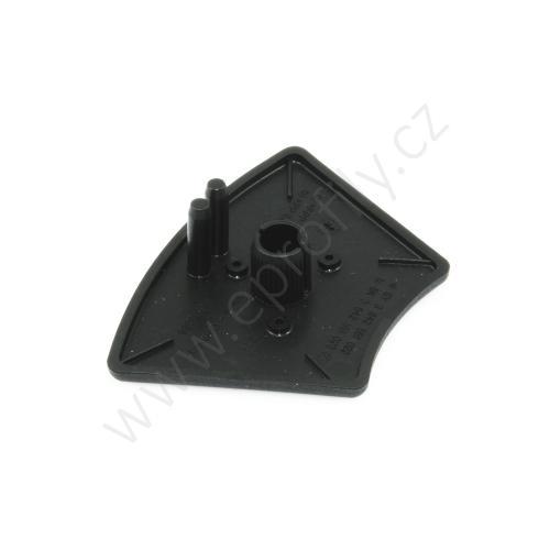 Krytka konce profilu černá plast, ESD, 3842551023, 45x45°, (1ks)