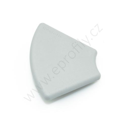 Krytka konce profilu šedá plast, 3842551024, 45x60°, Balení (20ks)