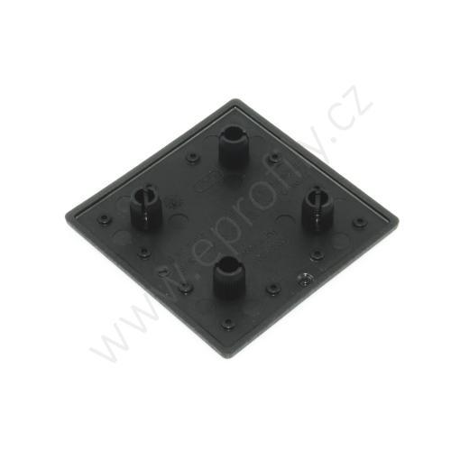 Krytka konce profilu černá plast, ESD, 3842551047, 60x60 8N, (1ks)