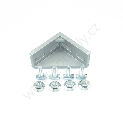 Spojovací úhelník 90° vnější - SET designLINE, ESD, 3842551604, 40x80; N10/N10, (1ks)