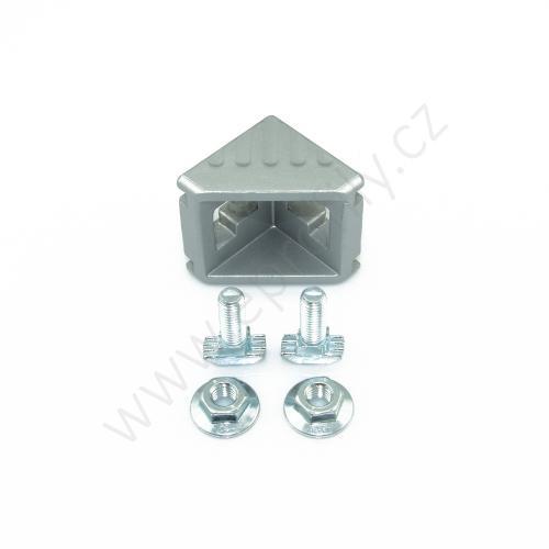 Spojovací úhelník 90° vnější - SET designLINE, ESD, 3842551606, 45x45; N10/N10, (1ks)
