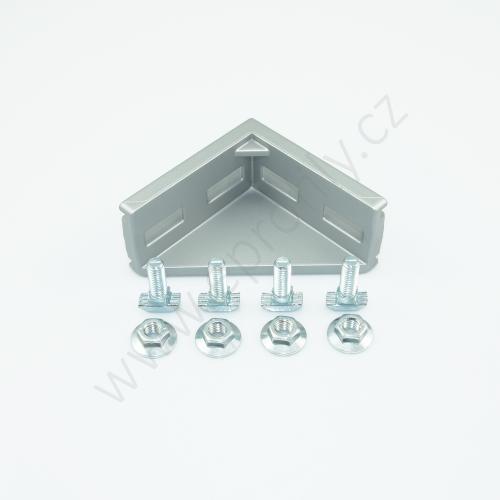 Spojovací úhelník 90° vnější - SET designLINE, ESD, 3842551607, 45x90; N10/N10, (1ks)