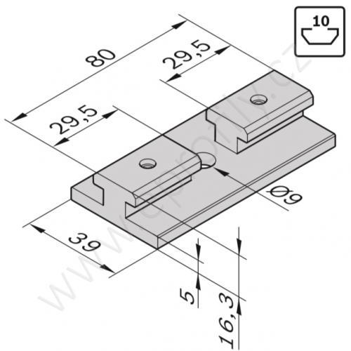 Kluzák plochý, uzamykatelný, 3842552424, N10, (1ks)