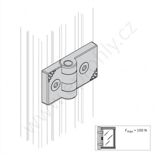 Plastový pant, 3842554466, 40x40, Balení (2ks)