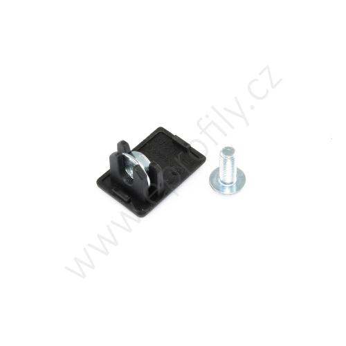 Krytka konce profilu černá plast, ESD, 3842554711, 30x45C, (1ks)
