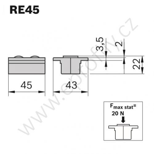Dopravníkový prvek, 3842554746, RE45, (1ks)