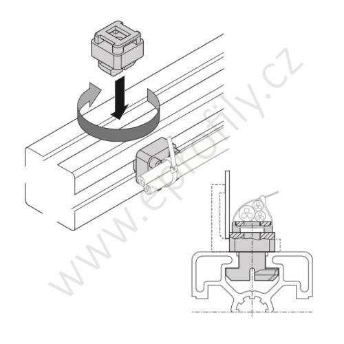 Křížový klip pro kabel, 3842555180, N10, Balení (100ks)