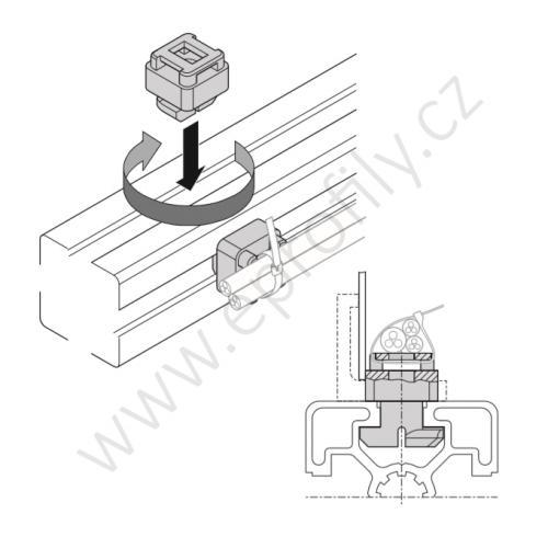 Křížový klip pro kabel, 3842555180, N10, (1ks)
