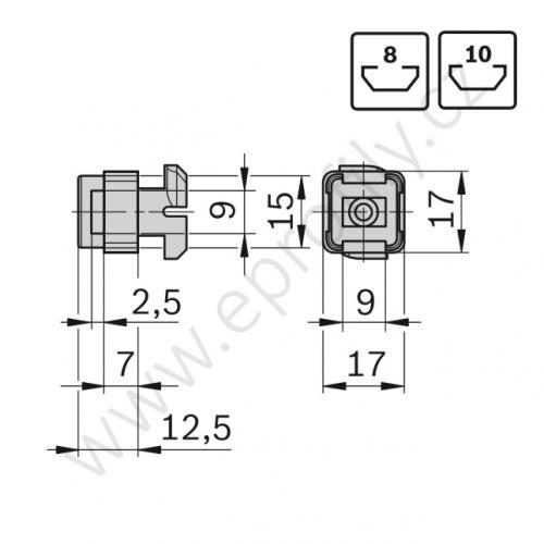 Křížový klip pro kabel, 3842555182, N8, Balení (10ks)