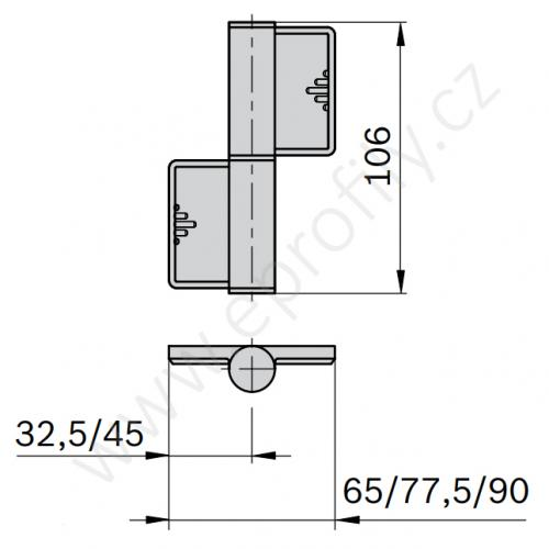 Pant odnímatelný, 3842555572, 30x30, Balení (2ks)