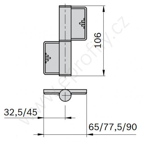 Pant odnímatelný, 3842555576, 45x45, Balení (2ks)