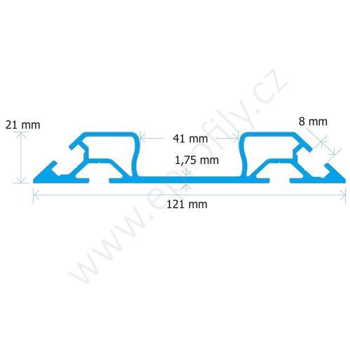 FiFo monorail kolejnice 40 mm, MONO-BP-6060, 21x121x6000, Celá tyč