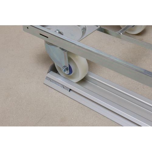 FiFo monorail koncový plech pro LiFo princip, MONO-STOP, 38x108x90, (1ks)