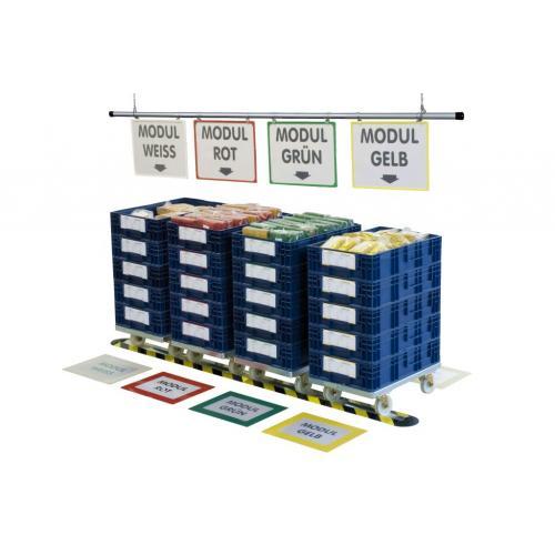 Blok parkovací podlahový aluminiový vysoký - vysoký, PAB-6060, 2x (12x77), Řezaný profil